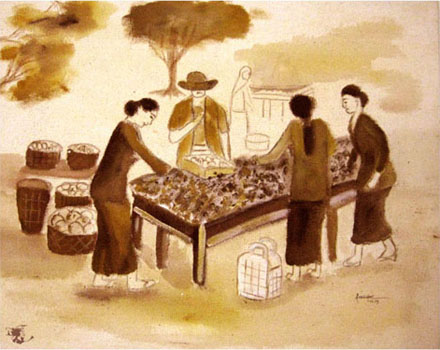 dechapoe_painting_javanese_traditionalmarket_sketchart_10
