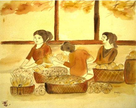dechapoe_painting_javanese_traditionalmarket_sketchart_4