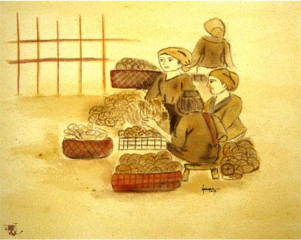 dechapoe_painting_javanese_traditionalmarket_sketchart_5