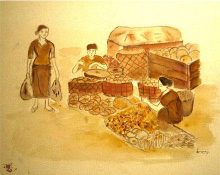 dechapoe_painting_javanese_traditionalmarket_sketchart_6