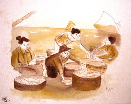 dechapoe_painting_javanese_traditionalmarket_sketchart_8