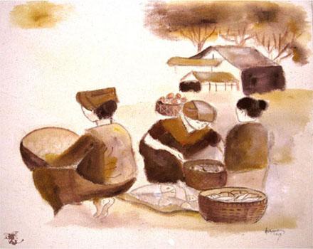 dechapoe_painting_javanese_traditionalmarket_sketchart_9