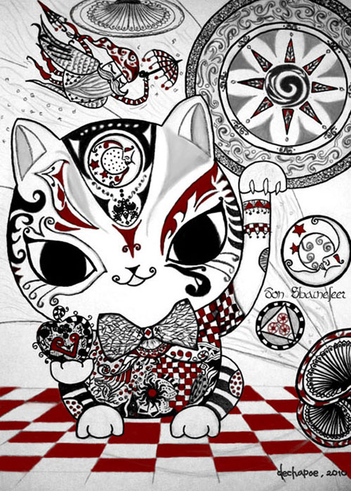 dechapoe_drawing_don_shainefeer_whimsical_cat