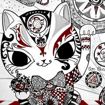 dechapoe_drawing_don_shainefeer_whimsical_cat_thumbs