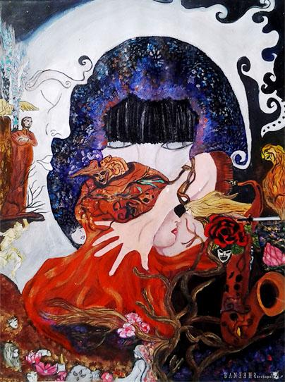 Dechapoe's Painting – Banshee, A Bipolar Disorder Girl