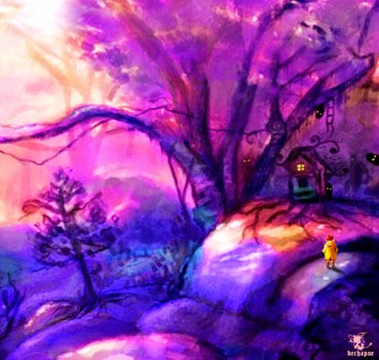 Dechapoe's Fairytale Painting – Peekaboo