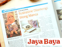 Jaya Baya Magazine - Icha Dechapoe Art Internationally Loved