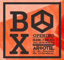 BOX Fine Art Exhibition at Artotel Surabaya